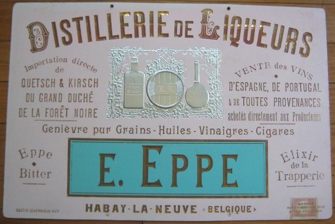 1898-French-Liqueur-Distillery-Gilded-Advertising-Sign