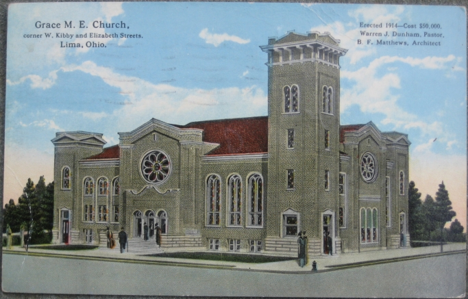 Lima (OH) United States  city images : Details about 1917 Postcard: Methodist Episcopal Church Lima, Ohio OH